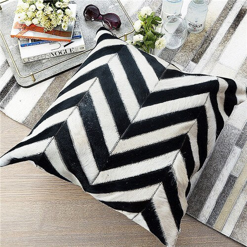 Colton Cowhide Pillow Covers