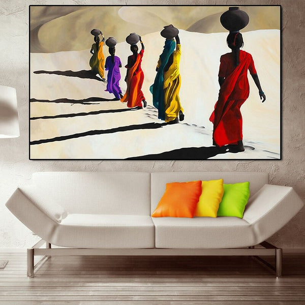 Walking in the Desert Canvas Print