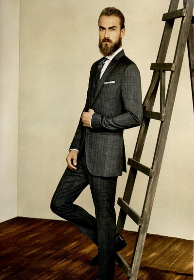 Blueburry Royale Glen plaid Suit