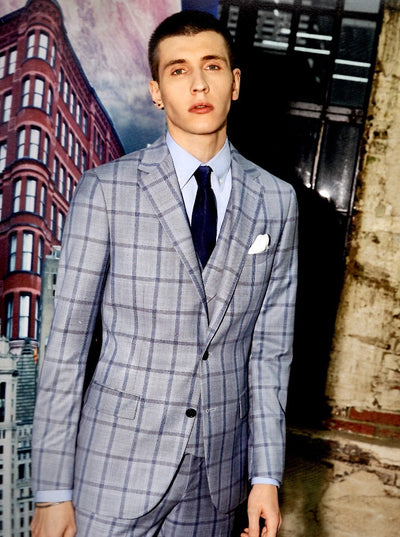 Blueburry Royale Blue check Suit