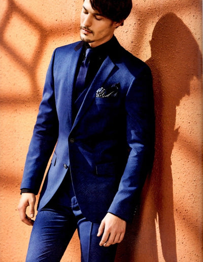 Blueburry Royale Blue Self Suit