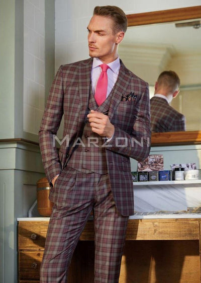 Blueburry Royale Bold Check Suit