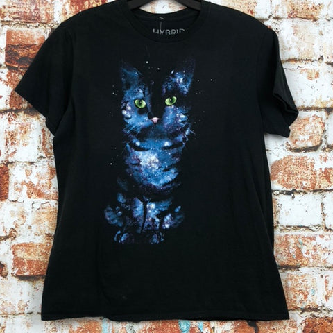 Cosmic Cat, used novelty shirt (M)