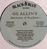 GG Allin : Doctrine Of Mayhem (LP, Comp, Mono, RE, S/Edition)