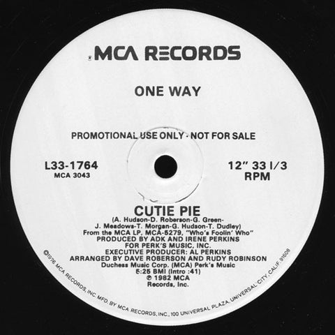 "One Way : Cutie Pie / Give Me One More Chance (12"", Single, Promo)"