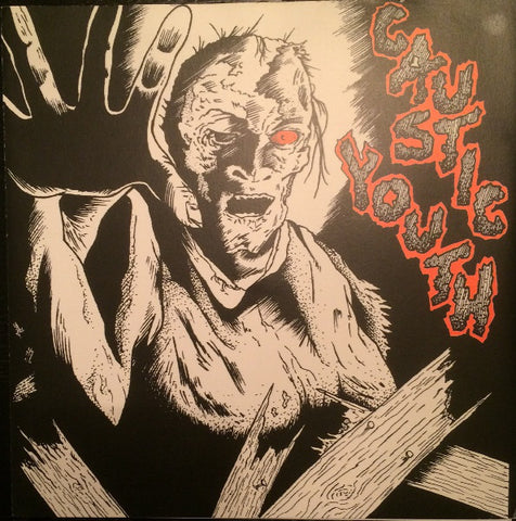 "Caustic Christ / Intense Youth! - Caustic Youth (7"", RP) (VG+)"
