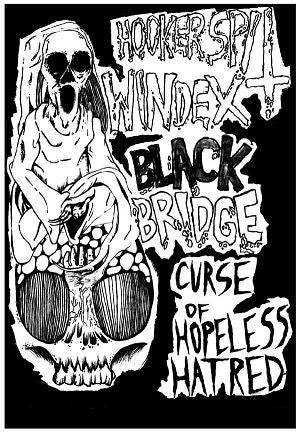 Hooker Spit Windex / Black Bridge (2) - Curse Of Hopeless Hatred (Cass, EP) (VG+)