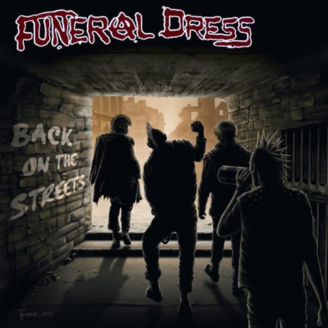 Funeral Dress - Back On The Streets (7`, EP) (NM or M-)