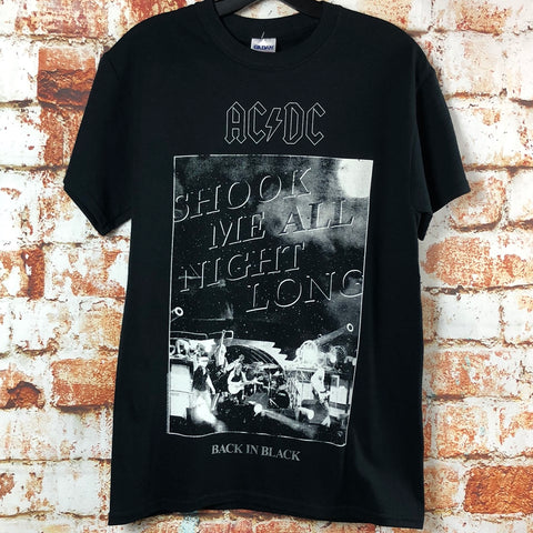 "AC/DC ""Back in Black,"" new band shirt (S)"