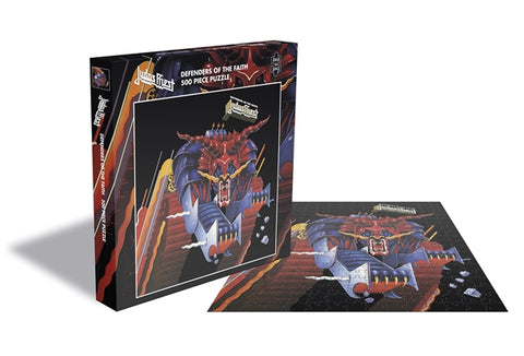 "Judas Priest ""Defenders Of The Faith"" Rock Saws 500 Piece Jigsaw Puzzle"