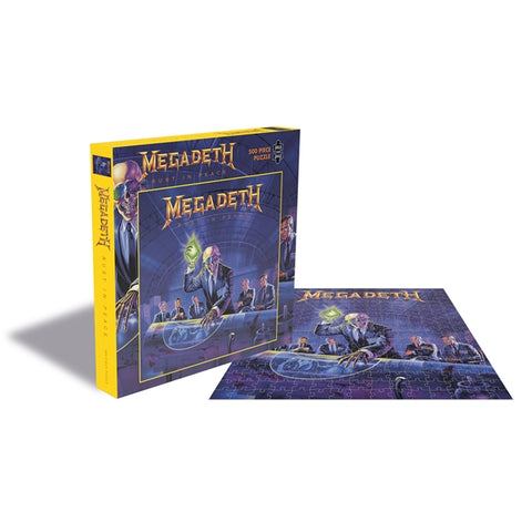 "Megadeth ""Rust In Peace"" Rock Saws 500 Piece Jigsaw Puzzle"