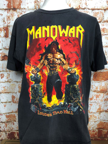 Manowar, vintage band shirt (XL)