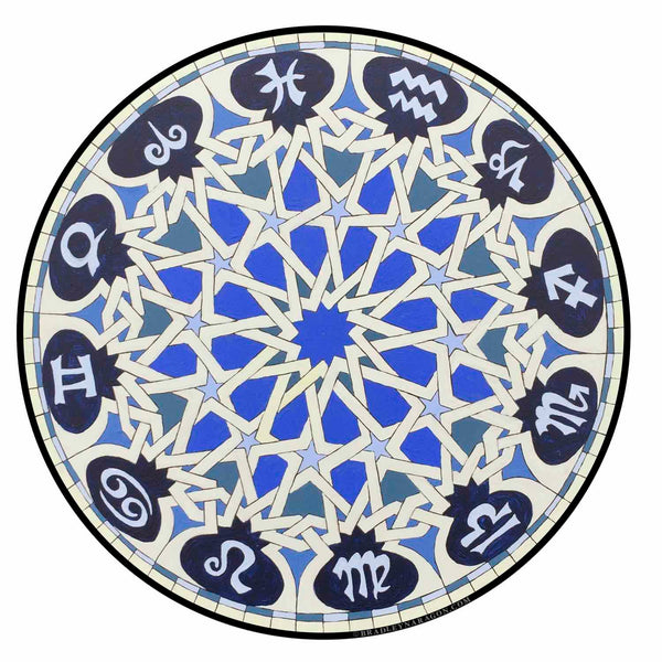 BLUE STAR ZODIAC Sticker