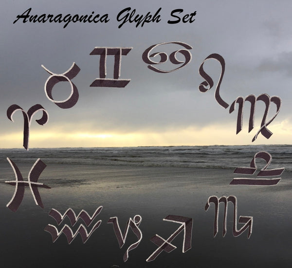 Anaragonica digital Glyph Set