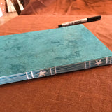 Hand Bound Journal- Turquoise & Pink w/Gold Stars