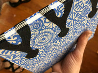 Hard Cover Hand Bound Journal - Blue & White