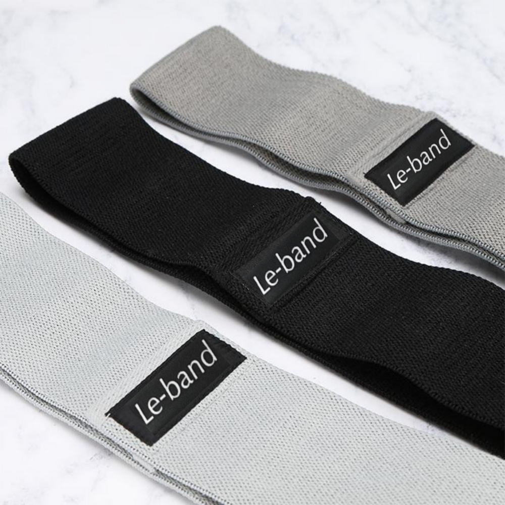 Resistance Bands Set of 3 in Gray