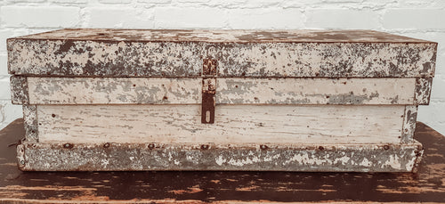 Early Antique White Trunk/Chest