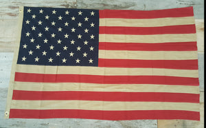 Tea Stained American Flag