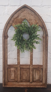 X-Large Brown Wood Window Southern Arch