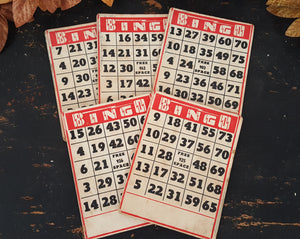 Antique Bingo Cards