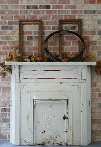 Antique Cast Iron Fireplace Mantle