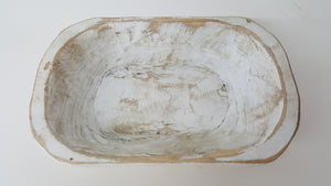 Extra Small White Wood Dough Bowl