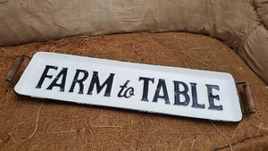 Farm to Table Metal Tray