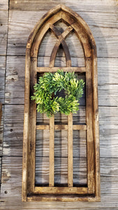 Large Amelia Wood Window Arch
