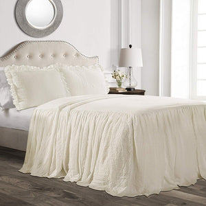 "Farmhouse Bedding Set with 30"" Drop"
