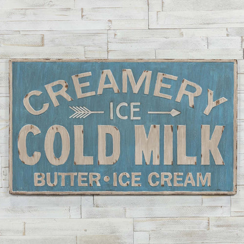 Creamery Metal Sign