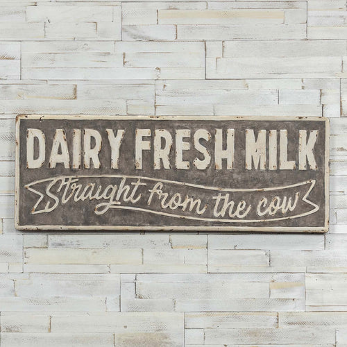 Dairy Fresh Milk Metal Sign