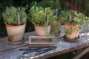 Black Wooden Herb Pant Stakes