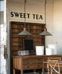 "Embossed Metal ""Sweet Tea"" Sign"