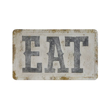 "Load image into Gallery viewer, Embossed Metal ""Eat"" Sign"