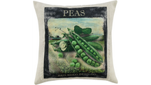 "Load image into Gallery viewer, Farmhouse ""Peas""  Linen Throw Pillow"