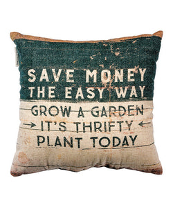 "Gardening Pillow ""Plant Today"""