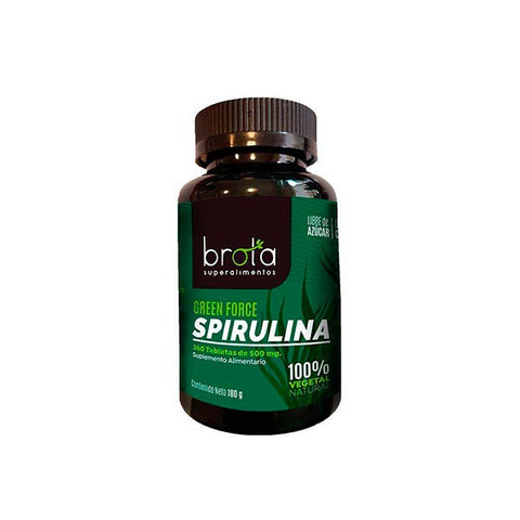 Spirulina Green Force Brota con 360 tabletas.