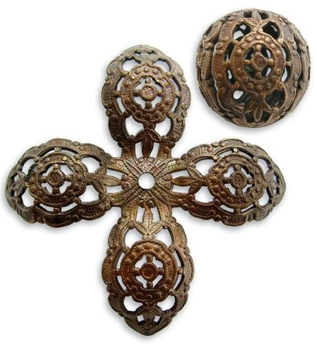 20mm Round Filigree Bead - Wrap (10 pcs)