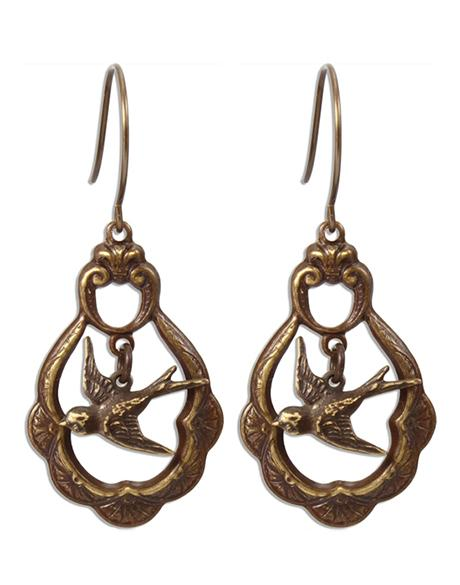 Caged Sparrow - Sentiment Earrings