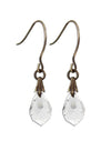 Jewel Drop Earrings - Crystal