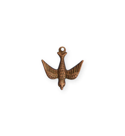 17x16.5mm Watchful Bird - Artisan Copper (28 pcs)