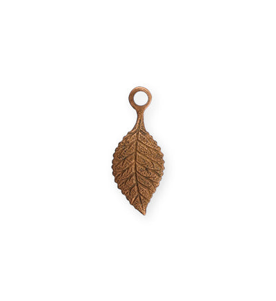 22.5x9mm Spring Green Leaf - Artisan Copper (32 pcs)
