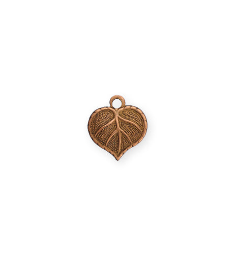 13x12mm Teensie Nouveau Leaf - Artisan Copper (36 pcs)