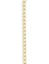 3.4x5.1mm Curb Chain - 14K Gold Antique Plated (10 ft)