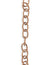 6.5x9.5mm Etched Cable Chain - Copper Antique Plated (8 ft)