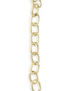 6.5x9.5mm Etched Cable Chain - 14K Gold Antique Plated (7 ft)