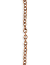4.1x5.1mm Petite Etched Cable Chain - Copper Antique Plated (10 ft)