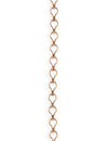 3.7x6.6mm Ladder Chain - Copper Antique Plated (12 ft)