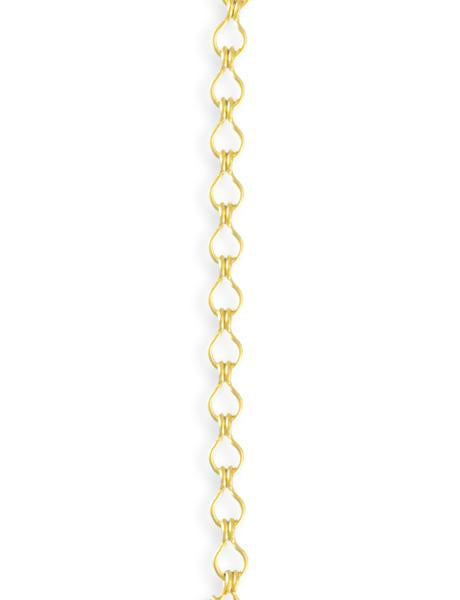 3.7x6.6mm Ladder Chain - 10K Gold Plated (10 ft)